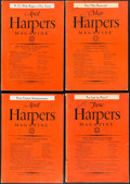 Books:Periodicals, [H. G. Wells, contributor]. Group of Four Harper's MagazineIssues. New York: 1936-1937.... (Total: 4 Items)