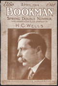 Books:Literature 1900-up, [H. G. Wells]. Bookman Spring Double Issue. London: 1914....