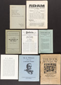 Books:Literature 1900-up, [H. G. Wells, subject]. Group of Eight Biographical andBibliographical Items.... (Total: 8 Items)