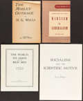 Books:Philosophy, H. G. Wells. Group of Four Political Works.... (Total: 4 Items)
