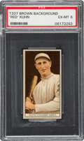 "Baseball Cards:Singles (Pre-1930), 1912 T207 Cycle ""Red"" Kuhn PSA EX-MT 6 - Highest Graded Example!..."