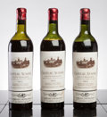Red Bordeaux, Chateau Ausone 1953 . St. Emilion. 2ms, 1mtls, lwasl, cuc-toreveal fully branded cork, outstanding color. Bottle (3). ...(Total: 3 Btls. )