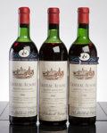 Red Bordeaux, Chateau Ausone. St. Emilion. 1962 hs Bottle (1). 1966 hs,1lscl Bottle (2). ... (Total: 3 Btls. )