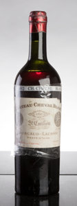 Red Bordeaux, Chateau Cheval Blanc 1912 . St. Emilion. htms, lbsl, ltl,worn short lead capsule, cork branding visible, ex-Christies S...(Total: 1 Btl. )