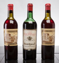 Red Bordeaux, Chateau Ducru Beaucaillou. St. Julien. 1950 2hs Bottle (2).1955 hs, lbsl, scl Bottle (1). ... (Total: 3 Btls. )