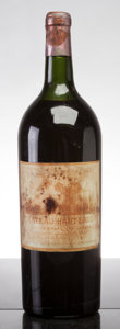 Red Bordeaux, Chateau Haut Brion 1947 . Pessac-Leognan. vhs, bsl, fl,cuc-to reveal fully branded cork. Magnum (1). ... (Total: 1 Mag. )