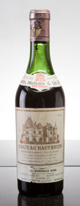 Red Bordeaux, Chateau Haut Brion 1959 . Pessac-Leognan. 4.5cm, lwrl.Half-Bottle (1). ... (Total: 1 Half. )