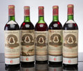 Red Bordeaux, Chateau l'Angelus. St. Emilion. 1961 hs, lwasl, lcc Bottle(1). 1966 3ts, 2wasl, 1lwisl, 2lcc Bottle (4). ... (Total: 5 Btls.)