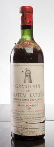 Red Bordeaux, Chateau Latour 1955 . Pauillac. ms, bsl, cuc-to reveal fullybranded cork. Bottle (1). ... (Total: 1 Btl. )