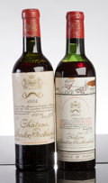 Red Bordeaux, Chateau Mouton Rothschild. Pauillac. 1934 good colorHalf-Bottle (1). 1955 ms, lwisl Half-Bottle (1). ... (Total: 2Halves. )