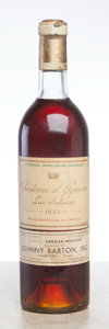 White Bordeaux, Chateau d'Yquem 1955 . Sauternes. bn, lbsl, wl, lcc, ssos, dark mahogany color. Bottle (1). ... (Total: 1 Btl. )