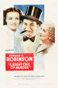 """Movie Posters:Comedy, A Slight Case of Murder (Warner Brothers, 1938). One Sheet (27"""" X41"""").. ..."""