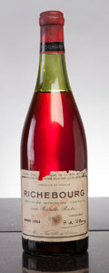 Red Burgundy, Richebourg 1955 . Domaine de la Romanee Conti . 4cm, bsl,ltl, #09432, outstanding color. Bottle (1). ... (Total: 1 Btl. )