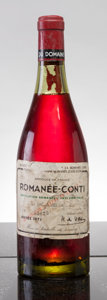 Red Burgundy, Romanee Conti 1971 . Domaine de la Romanee Conti . bsl, wrl,ll-reapplied with tape, outstanding color, #03025. Bottle (...(Total: 1 Btl. )