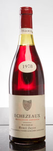 Red Burgundy, Echezeaux 1978 . H. Jayer . lbsl, nl, cuc-to reveal fullybranded cork. Bottle (1). ... (Total: 1 Btl. )