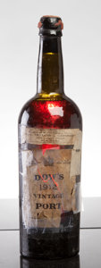 Port/Madeira/Misc Dessert, Dow's Vintage Port 1912 . vhs, lbsl, tal-reapplied with tape,cracked wax capsule. Bottle (1). ... (Total: 1 Btl. )