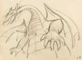 Animation Art:Production Drawing, Sleeping Beauty Maleficent as a Dragon Animation Drawing(Walt Disney, 1959)....