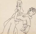 Animation Art:Production Drawing, Autograph Hound Greta Garbo and Clark Gable AnimationDrawing (Walt Disney, 1939)....