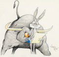 Animation Art:Production Drawing, Bully For Bugs Bugs Bunny Illustration by Virgil Ross(Warner Brothers, c. 1990s)....