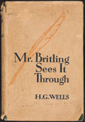 Books:Literature 1900-up, H. G. Wells. Mr. Britling Sees It Through. London:[1916]....