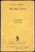 Books:Literature 1900-up, H. G. Wells. The Holy Terror. London: [1939]....