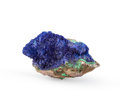 Minerals:Cabinet Specimens, AZURITE. Morenci Mine, Copper Mountain District (Clifton-MorenciDistrict). Shannon Mts, Greenlee Co.. Arizona,...