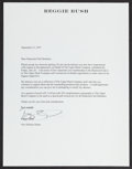 Football Collectibles:Others, Reggie Bush Signed Upper Deck Apology Letter....