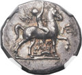 Ancients:Greek, Ancients: CALABRIA. Tarentum. Ca. 240-228 BC. AR stater (24mm, 6.54gm, 12h)....