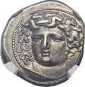 Ancients:Greek, Ancients: THESSALY. Larissa. Ca. 356-342 BC. AR drachm (20mm, 6.08gm, 7h). ...
