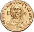 Ancients:Byzantine, Ancients: Justinian II, first reign (AD 685-695). AV solidus (20mm, 4.46 gm, 6h). ...