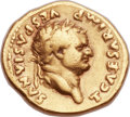 Ancients:Roman Imperial, Ancients: Titus, as Caesar (AD 69-79). AV aureus (18mm, 6.69 gm, 6h). ...