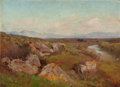 Fine Art - Painting, American:Modern  (1900 1949)  , Pietro Sassi (Italian, 1834-1905). Landscape outside Rome,1905. Oil on board. 12 x 16-3/4 inches (30.5 x 42.5 cm). Sign...