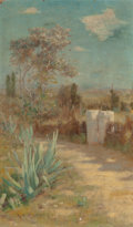 Fine Art - Painting, American:Antique  (Pre 1900), ROBERT VAN VORST SEWELL (American, 1860-1924). Path through aDesert Landscape. Oil on canvas laid on board. 11-1/4 x 10...