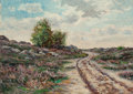 Fine Art - Painting, American:Antique  (Pre 1900), PETER ALFRED GROSS (American, 1849-1914). Old Road Cimiez,Nice. Oil on canvas. 19 x 27 inches (48.3 x 68.6 cm). Signed...