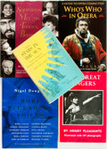 Books:Music & Sheet Music, [Opera] Group of Five Books about Opera Singers. Various publishersand dates. Original bindings. Very good. From the libr...(Total: 5 Items)