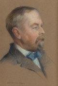 Fine Art - Work on Paper:Drawing, JEAN NUTTING OLIVER (American, 1883-1946). Portrait of WilliamH. Downes. Pastel on paper. 13 x 9-1/2 inches (33.0 x 24....