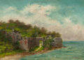Paintings, KATHERINE M. CRABTREE (American, 19th Century). Ruins by the Shore, 1888. Oil on canvas. 16 x 22 inches (40.6 x 55.9 cm)...