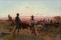 Fine Art - Painting, American:Antique  (Pre 1900), AMERICAN SCHOOL (19th Century). After the Battle . Oil oncanvas. 22 x 33 inches (55.9 x 83.8 cm). Signed illegibly lowe...