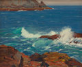 Fine Art - Painting, American:Modern  (1900 1949)  , GUSTAVE CIMIOTTI (American, 1875-1969). The Ogunquit Shore.Oil on canvasboard. 13 x 16 inches (33.0 x 40.6 cm). Signed ...