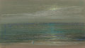 Fine Art - Painting, American:Modern  (1900 1949)  , LÉON DABO (American, 1868-1960). Seashore (Moonrise over theSea). Pastel on paper. 11-1/4 x 19-3/4 inches (28.6 x 50.2 ...