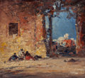 Fine Art - Painting, American:Antique  (Pre 1900), American School (19th Century). Orientalist Scene. Oil onpanel. 7-3/4 x 8 inches (19.7 x 20.3 cm). FROM THE JEAN AND ...