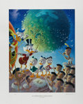 Original Comic Art:Miscellaneous, Carl Barks - An Astronomical Predicament, Regular EditionLithograph #4/345 (Another Rainbow, 1990). ... (Total: 2 Items)