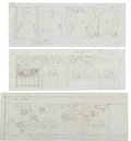 Original Comic Art:Miscellaneous, Sheldon Mayer - Sugar & Spike Comic Strip Layout and LetterGroup (undated).... (Total: 8 Items)