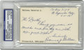 Autographs:Index Cards, Roderick J. Wallace Signed Index Card. Tough early Hall of Fameindex card courtesy of the brilliant shortstop Bobby Walla...
