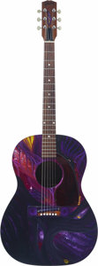 "Musical Instruments:Electric Guitars, Gibson Acoustic Guitar Hand-Painted by Annie Haslam Singer ofRenaissance, Titled ""Jupiter."" This striking piece is painted ...(Total: 1 Item)"