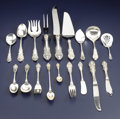 Silver Flatware, American:Wallace , An American Silver Flatware Service. Wallace Silversmiths, Wallingford, Connecticut. Circa 1936. Silver and stainless. Mar... (Total: 79 Items)