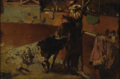 Paintings, CONTINENTAL SCHOOL (Twentieth century). Bullfighter. Oil on panel. 6-1/4 x 9 inches (15.9 x 22.9 cm). Signed lower right...