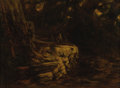 Fine Art - Painting, European:Antique  (Pre 1900), EDWARD O. BOWLEY (British Nineteenth Century). Landscape,1858. Oil on board. 10 x 14 inches (25.4 x 35.6 cm). Signed lo...