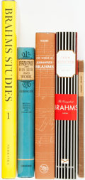 Books:Music & Sheet Music, [Music, Johannes Brahms] Group of Five Books about Johannes Brahms.Various publishers and dates. Original bindings. Very go... (Total:5 Items)