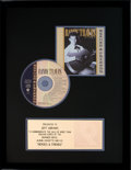 Music Memorabilia:Awards, Randy Travis Heroes and Friends RIAA Gold Record Award(Warner Brothers 26310, 1990)....